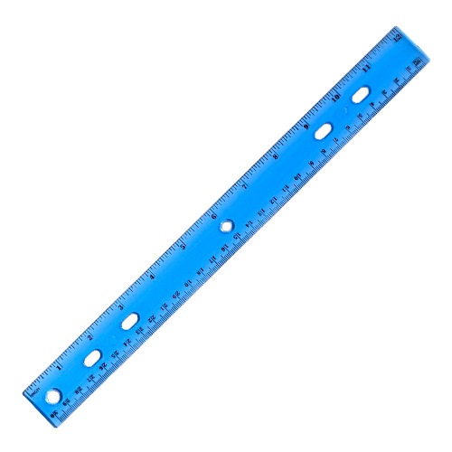 "Image For 12"" Plastic Transparent Ruler"