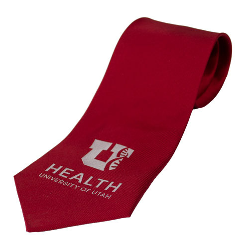 Image For University of Utah Block U Helix Red Tie