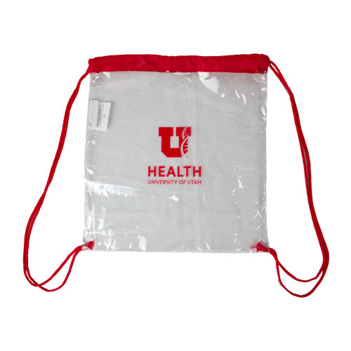 Image For Block U Helix Clear Drawstring Tote