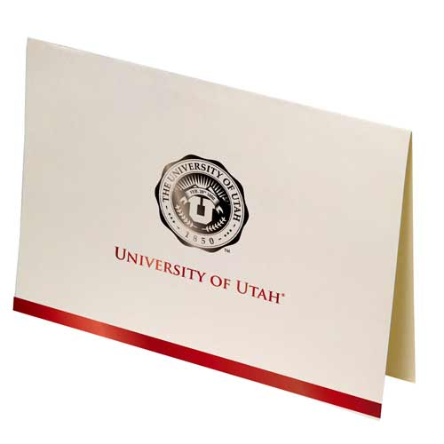 Image For University of Utah 25 Pack Medallion Formal Greeting Card