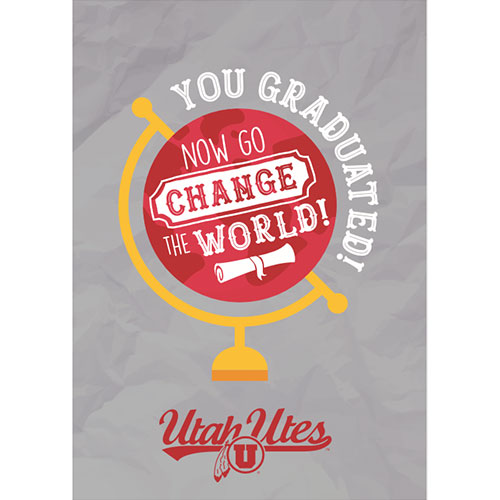Image For University of Utah Change the World Greeting Card