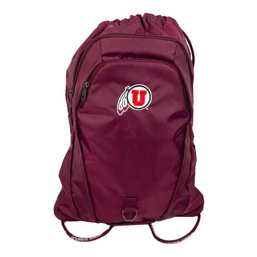 Image For Utah Utes Under Armour Athletic Logo Maroon Sack Pack