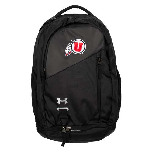 Cover Image For Utah Utes Under Armour Athletic Logo Black Backpack