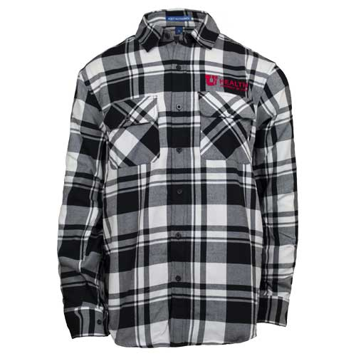 Image For University of Utah Health Men's Flannel Button Up Shirt