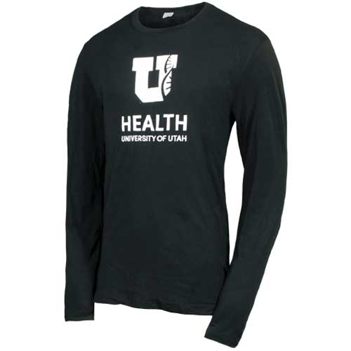 Image For University of Utah Health Helix Block U Long Sleeved Tee
