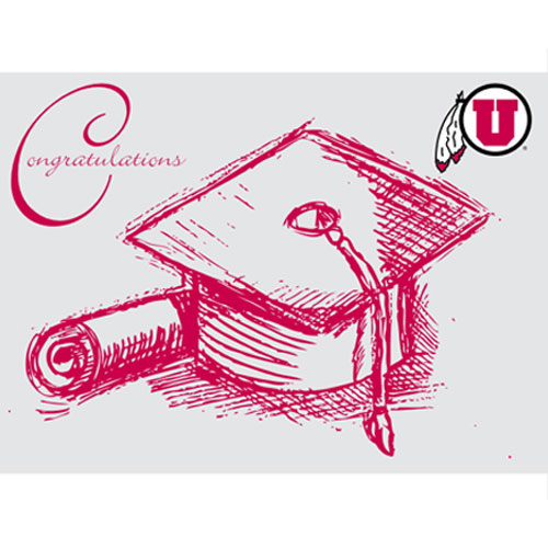 Image For University of Utah Congratulations Sketch Graduation Card