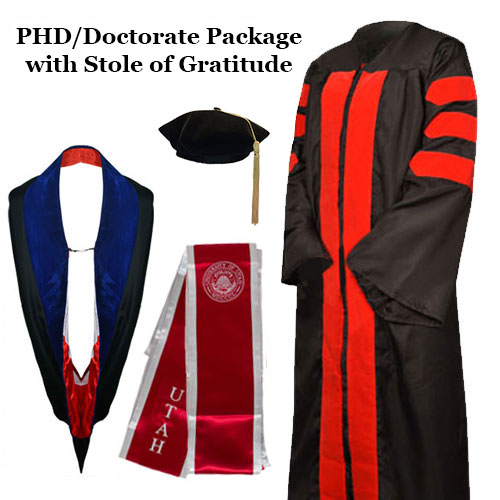 Image For University of Utah PhD-Doctor Tam Package w/ Stole