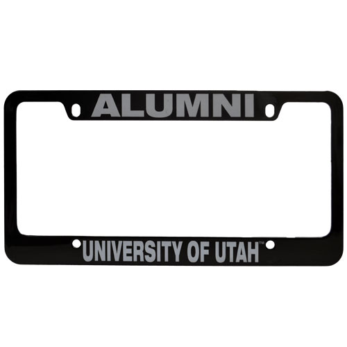Image For University of Utah Black Alumni License Plate Frame