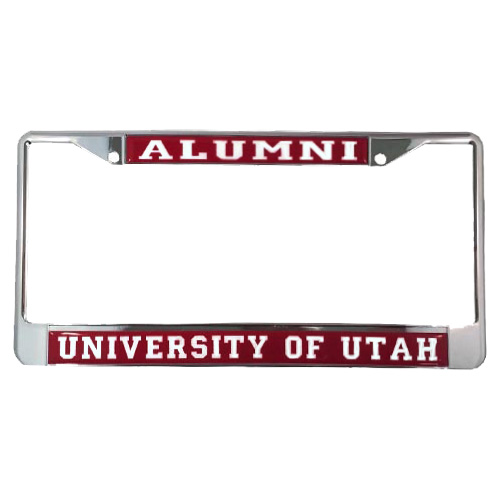 Image For University of Utah Utes Red Alumni License Plate Frame