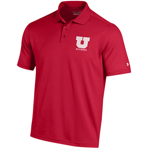 Image For University of Utah Block U Alumni Under Armour Polo