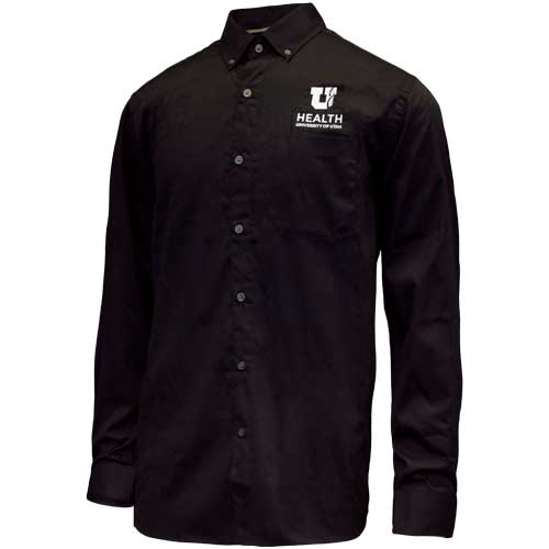 Image For University of Utah Health Men's Black Button Down