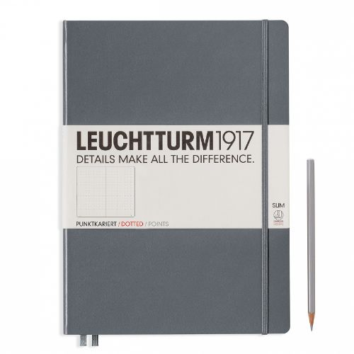 Image For Leuchtturm Dotted Notebook Master Slim (A4+) - Hardcover