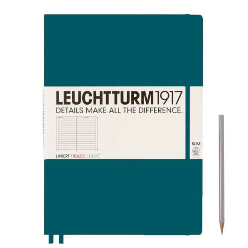 Image For Leuchtturm Ruled Notebook Master Slim (A4+) - Hardcover