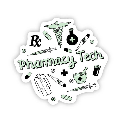 Image For Pharmacy Tech Sticker