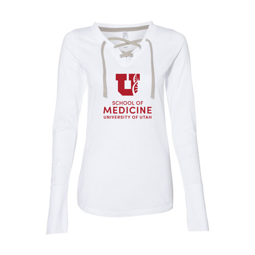 Cover Image For U of U School of Medicine Ladies' Lace-Up Tee