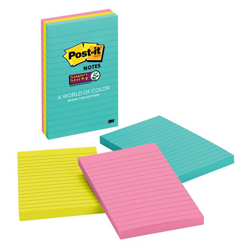 "Image For Post-it Super Sticky 4""x6"" Notes"