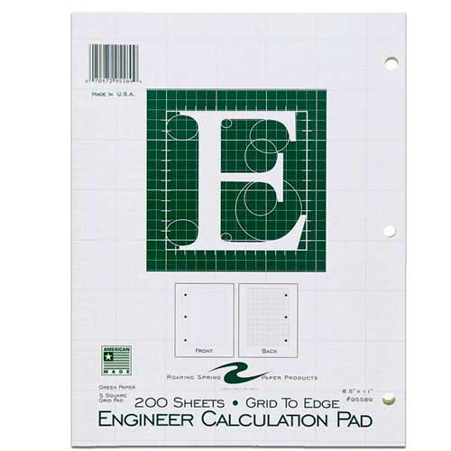Image For Engineer Calculation Pad