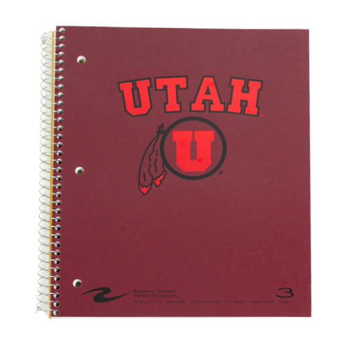 Image For Roaring Spring 3 Subject University of Utah Notebook