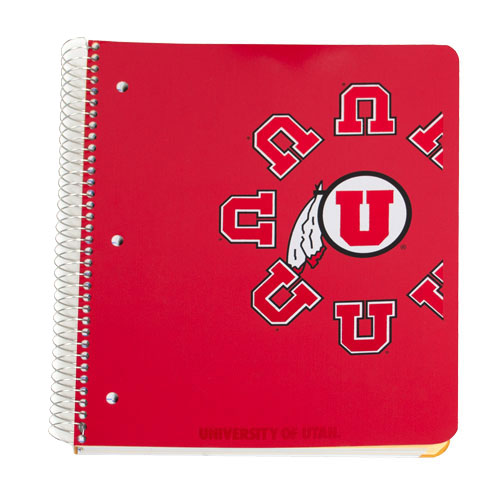 Image For 4-Subject University of Utah College-Ruled Notebook