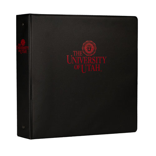 "Image For 2"" Red Ink University of Utah Medallion Binder"