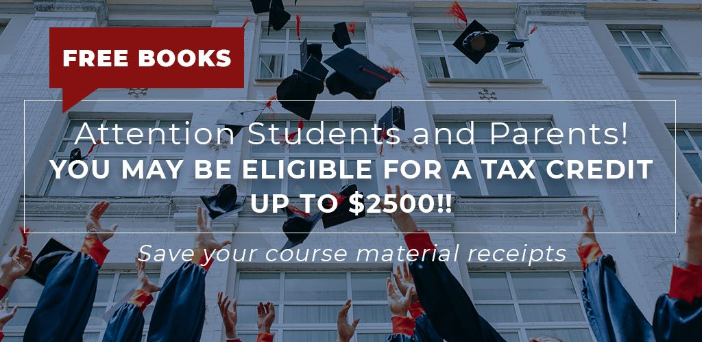You may be eligible for a tax credit up to $2500, save your receipts!