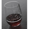 Image for College Map Stemless Wine Glass
