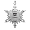 Image for University of Utah Health Pewter Snowflake Ornament